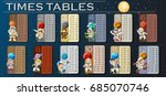 times tables with astronauts in ... | Shutterstock .eps vector #685070746