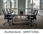 skyscrapers view from a meeting ... | Shutterstock . vector #685071406