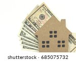 mortgage loan and dollar money...   Shutterstock . vector #685075732