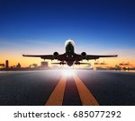 cargo plane take off from... | Shutterstock . vector #685077292