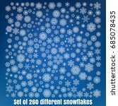 mega set of 260 different...   Shutterstock .eps vector #685078435