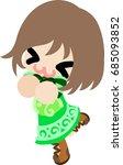 the illustration of cute... | Shutterstock .eps vector #685093852