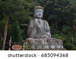 a statue of japanese buddha... | Shutterstock . vector #685094368