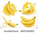 banana juice. fresh fruit and... | Shutterstock .eps vector #685100482