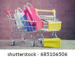 paper shopping bags  in a... | Shutterstock . vector #685106506