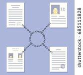 blockchain government concept.... | Shutterstock .eps vector #685111828