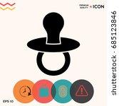 baby's dummy    icon | Shutterstock .eps vector #685123846
