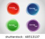 eps10 colorful bubbles for... | Shutterstock .eps vector #68513137