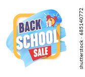 back to school vector cartoon... | Shutterstock .eps vector #685140772