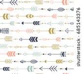 hand drawn seamless arrow... | Shutterstock .eps vector #685143376