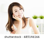 closeup smiling young  woman... | Shutterstock . vector #685146166