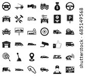 rent car icons set  simple style | Shutterstock .eps vector #685149568