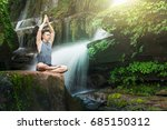young man meditating and relax... | Shutterstock . vector #685150312