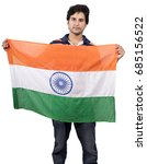 indian male model posing with... | Shutterstock . vector #685156522