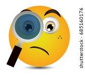search emoticon vector | Shutterstock .eps vector #685160176