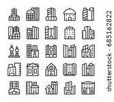 buildings  landmarks line... | Shutterstock .eps vector #685162822
