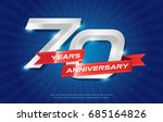 70 years anniversary background ... | Shutterstock .eps vector #685164826
