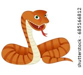 snake illustration featuring a... | Shutterstock .eps vector #685166812