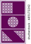 set of business card template.... | Shutterstock .eps vector #685172242