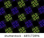 a hand drawing pattern made of... | Shutterstock . vector #685172896