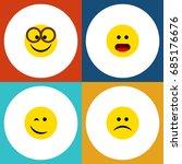 flat icon emoji set of sad ...   Shutterstock .eps vector #685176676