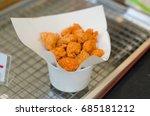 fried chicken pop nuggets in a... | Shutterstock . vector #685181212