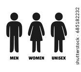 man  woman an unisex vector... | Shutterstock .eps vector #685182232