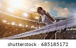female tennis player celebrates ... | Shutterstock . vector #685185172
