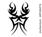 tattoo tribal vector design.... | Shutterstock .eps vector #685186576