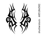 tattoo tribal vector design.... | Shutterstock .eps vector #685186582