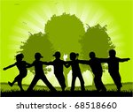 child's play in the park | Shutterstock .eps vector #68518660