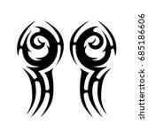tribal tattoo art designs.... | Shutterstock .eps vector #685186606