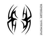 tribal tattoo art designs.... | Shutterstock .eps vector #685186636