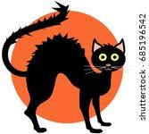 black cat. vector. icon | Shutterstock .eps vector #685196542