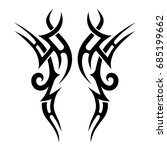 tattoo tribal vector design.... | Shutterstock .eps vector #685199662
