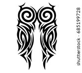 tattoo art tribal vector design.... | Shutterstock .eps vector #685199728