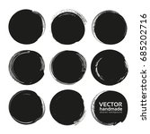 circle black abstract thick... | Shutterstock .eps vector #685202716