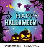 halloween cartoon | Shutterstock .eps vector #685204912