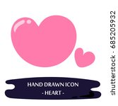 heart icon. hand drawn doodle... | Shutterstock .eps vector #685205932