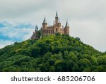 castle hohenzollern on the... | Shutterstock . vector #685206706
