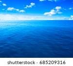 beautiful sky and blue ocean | Shutterstock . vector #685209316