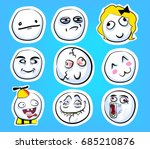 set of cute emotional stickers...