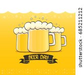 international beer day vector... | Shutterstock .eps vector #685211212