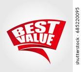 best value labels banners | Shutterstock .eps vector #685220095