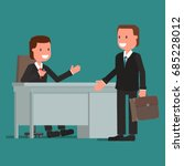 businessman and visitor. vector ... | Shutterstock .eps vector #685228012