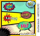 sound effects comic. background ... | Shutterstock .eps vector #685228192