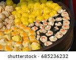 dim sum with miscellaneous... | Shutterstock . vector #685236232