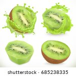 kiwi fruit juice. fresh fruits... | Shutterstock .eps vector #685238335