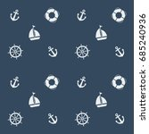 summer seamless pattern with... | Shutterstock .eps vector #685240936