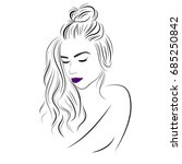 vector sketch of a beautiful... | Shutterstock .eps vector #685250842